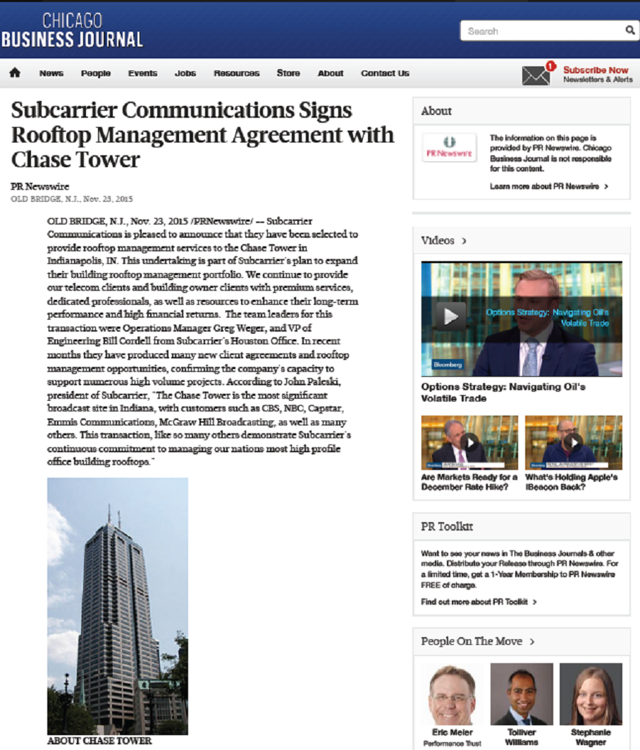Subcarrier News| Tower site management and telecommunications